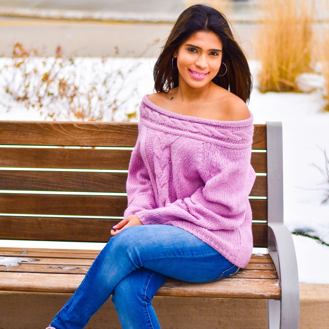 Romwe purple off shoulder sweater