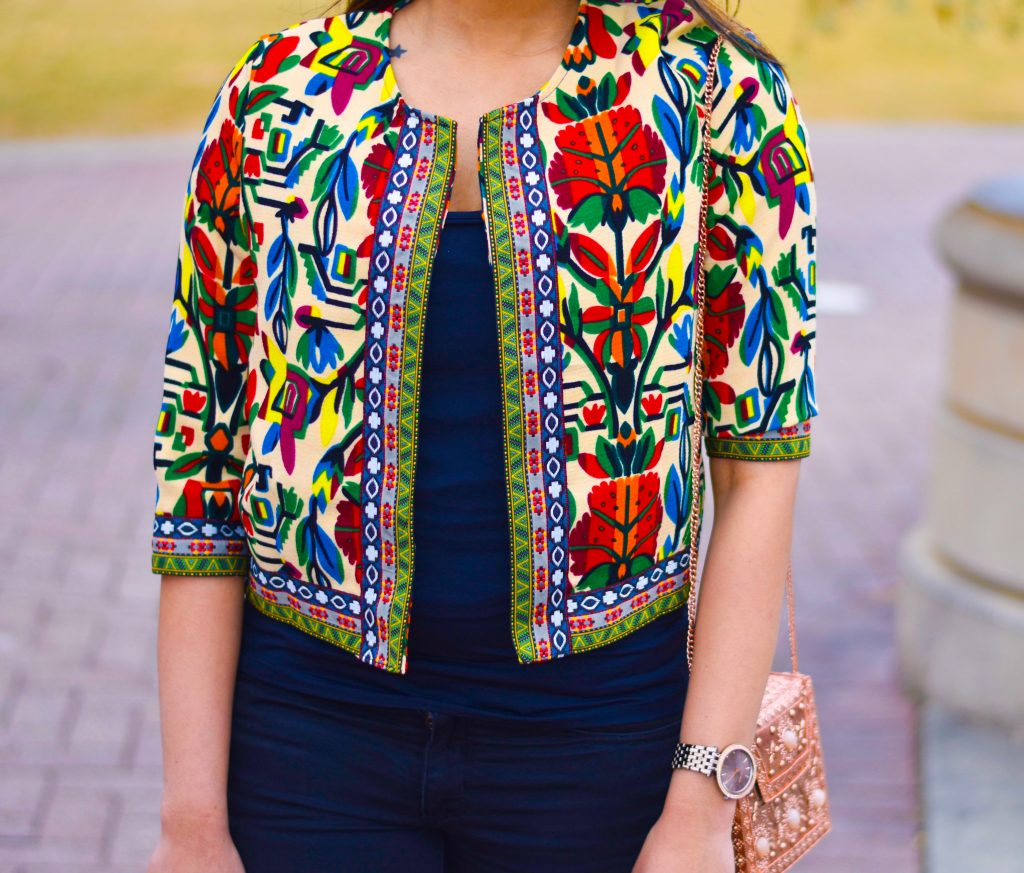 Colorful crop jacket