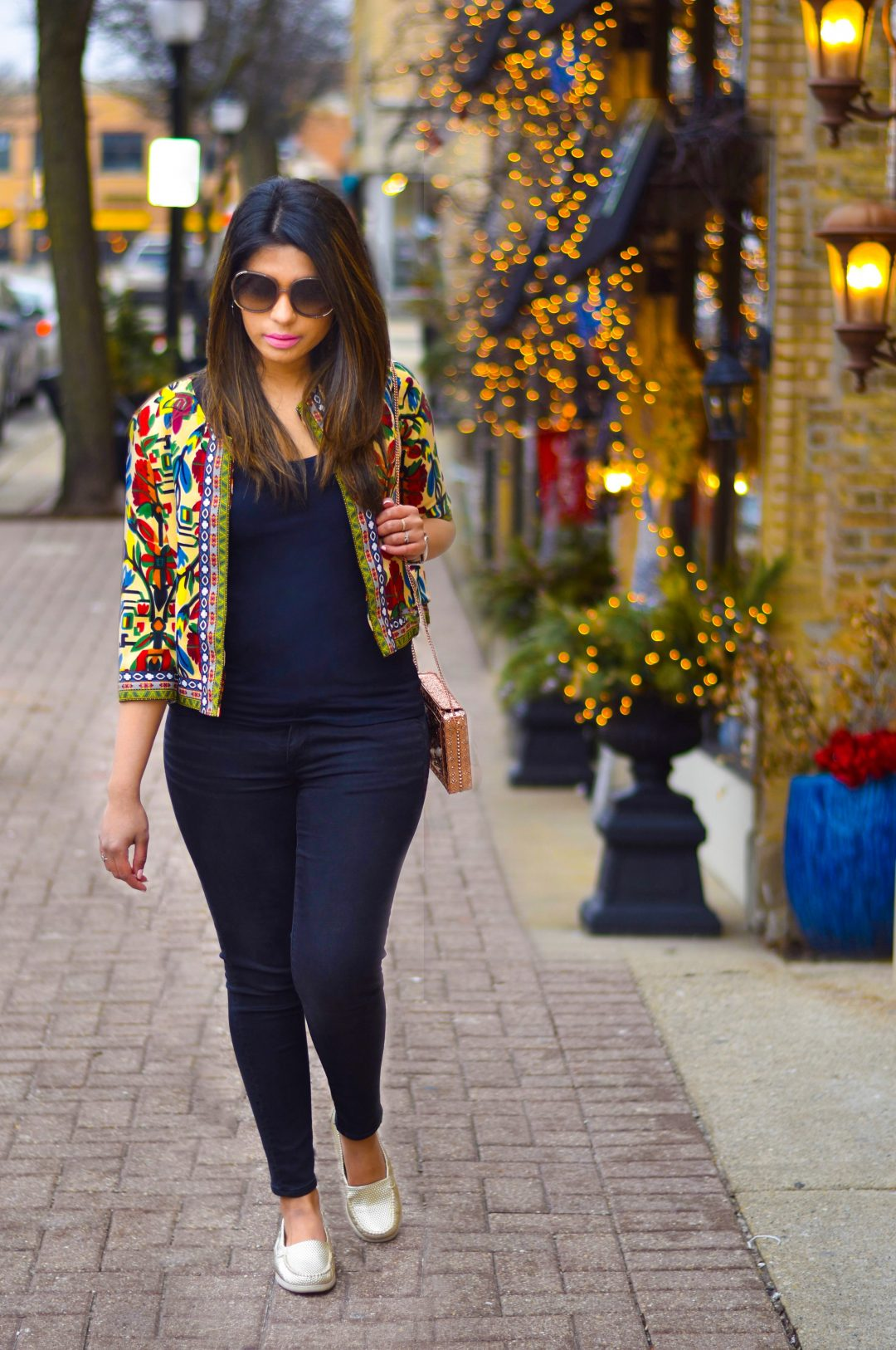 Shein tribal print jacket